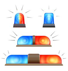 alert flasher icon set cartoon style vector image