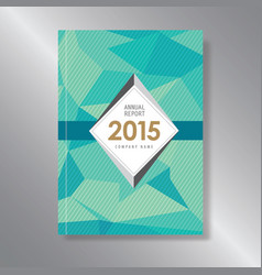 Annual report cover triagle abstract triangle vector