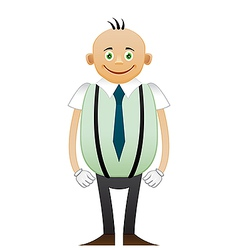 Bald happy office man vector