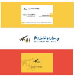 beautiful guns logo and business card vertical vector image