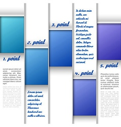Blue Window Layout vector image