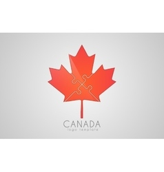 Canada logo maple leaf cymbol of canada vector