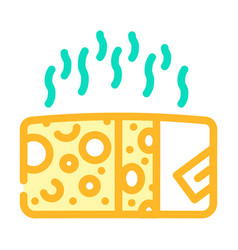 Cheese smell color icon line vector