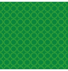 Circular pattern ireland clover irish shamrock vector