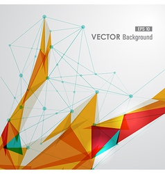 Colorful web geometric transparency vector image