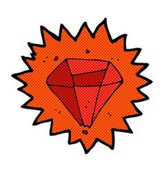 Comic cartoon ruby vector