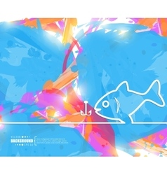 Creative fishing Art template vector