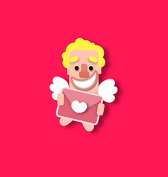 Cupid heart valentine vector