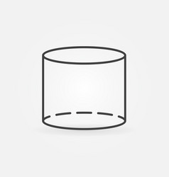 Cylinder line icon vector