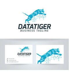 Data tiger logo vector