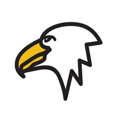 Eagle simple icon vector
