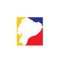 Ecuador map logo icon symbol vector