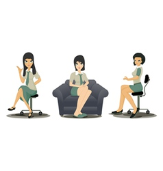 Employees working women vector image