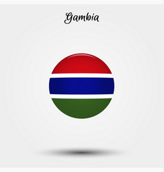 flag gambia icon vector image
