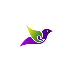 flying bird abstract logo design vector image
