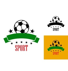 Football or soccer emblem vector