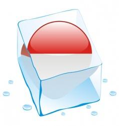 frozen button flag of monaco vector image
