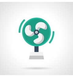 Green air cooler flat color icon vector
