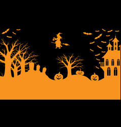 halloween greeting banner vector image