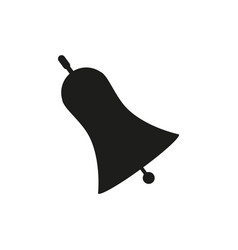 Hand bell black icon on vector