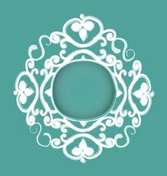 Hand drawn decorative frame vector image