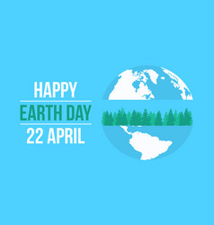 happy earth day celebration collection vector image