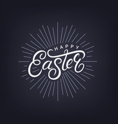 Happy easter hand written lettering vector