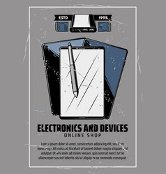 internet electronics and smart devices vector image