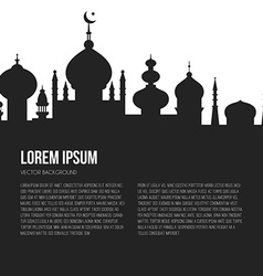 Islamic City Template vector image
