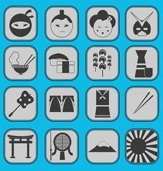 Japanese icon basic style vector