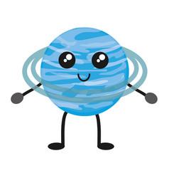 Kawaii planets design vector