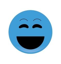 laughing emoticon icon vector image