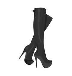 Leather high-heeled women sexy shoes women s vector