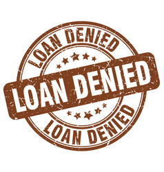 Loan denied vector