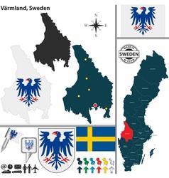 Map of Varmland vector image