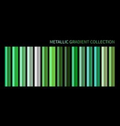 metallic neon green chrome gradient vector image