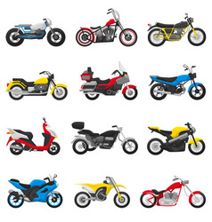 Motorcycle motorbike and motoring cycle vector