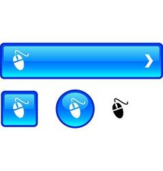 Mouse button set vector image