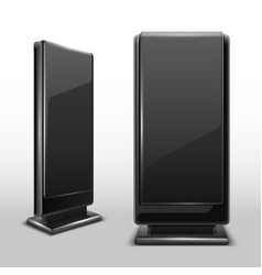 Outdoor lcd digital display standing screen vector
