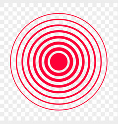 Pain red circle point icon vector
