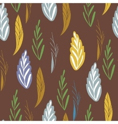 Pattern in autumn colord Seamless pattern vector