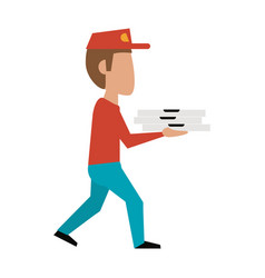 pizza deliver cartoon vector image