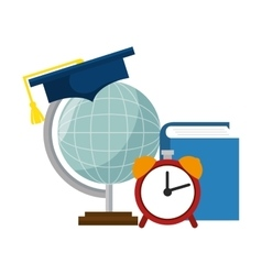 Planet earth school icon vector