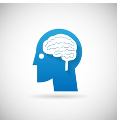 Power of Intelligent Symbol Head with Brain vector image