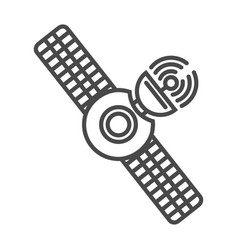 radio broadcasting satellite linear icon vector image