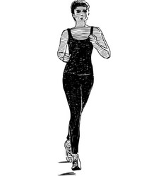 Running woman vector