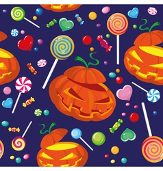 Seamless halloween candy vector