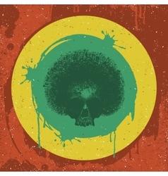 Skull reggae graphic design vector image