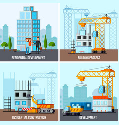 sky scraper construction design concept vector image