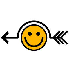 Smile joke arrow symbol vector